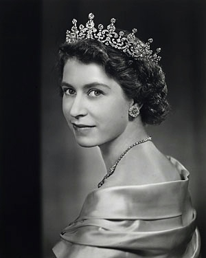 Queen Elizabeth (photographed by Yousef Karsh) A very pretty picture of her.