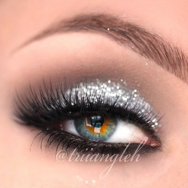 Silver Glitter Smokey Eye by triiangleh