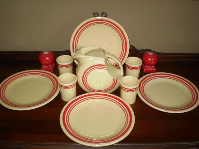 Fiestaware+red+stripe~~never have seen this & 79 best Dishes images on Pinterest | Dinnerware Cooking ware and ...