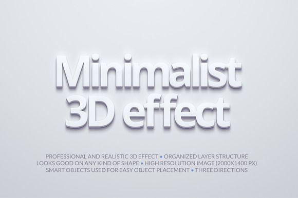 Minimalist 3D Effect by Erigon on Creative Market