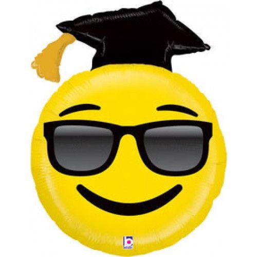 Emoji Grad 37in Metallic Balloon