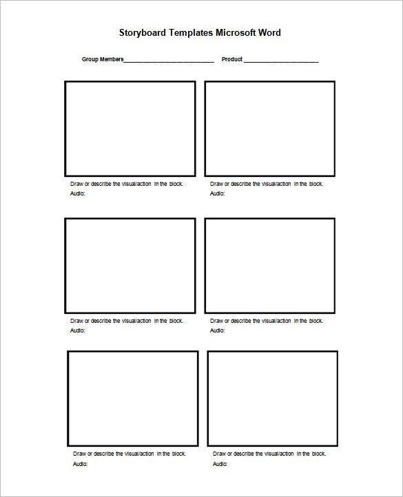 Photography Storyboard Template  EnvResumeCloud