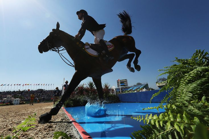 Daniel Bluman of Colombia riding Apardi competes during the Jumping Individual and Team Qualifier on Day 9 of Rio 2016. #  Christian Petersen / Getty