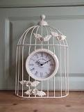 cream birdcage clock - Google Search    I have this ready for new room :)