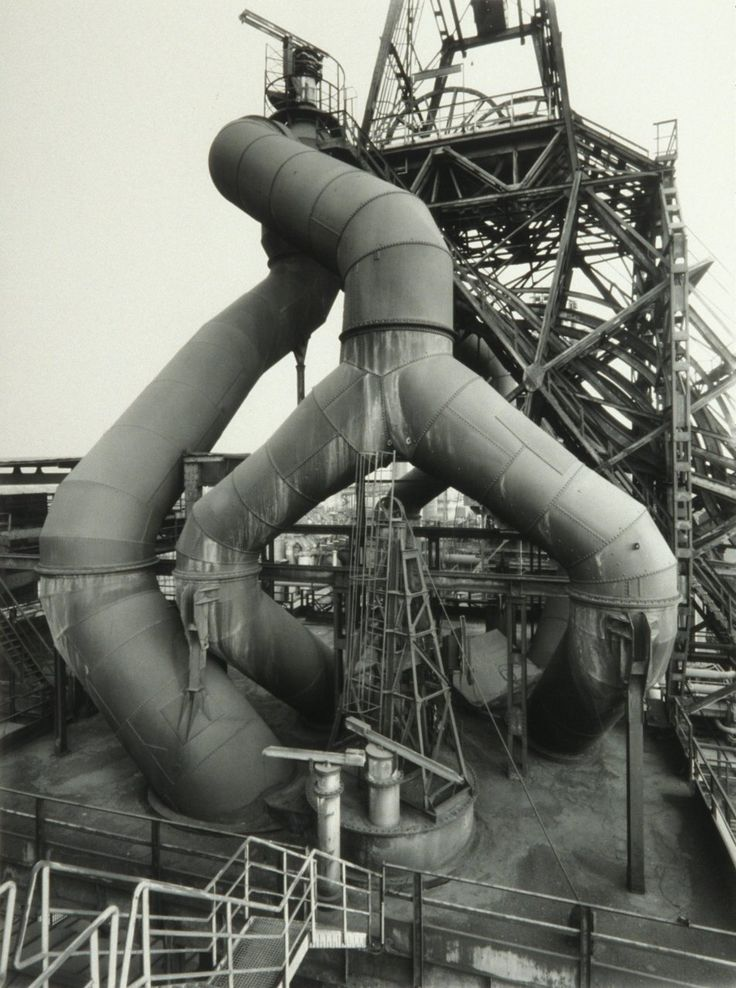 blast furnace and winding tower : bernd and hilla becher