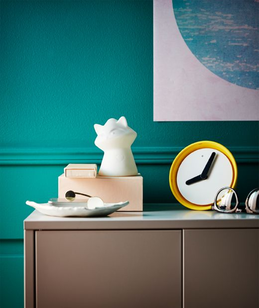 Want a decorative raccoon for your room? LURIGA LED night light from IKEA is made of white rubber and is a little raccoon. Even though it's designed for kids, it has a refined, clean look that works well in a display on a cabinet or bedside table.