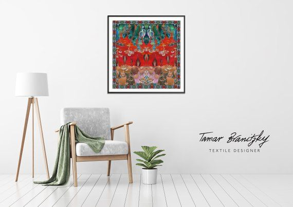 Home Decoration Printed Collage Art Floral Wall Art Wall Hanging - Decorative-floral-print-chairs-from-floral-art