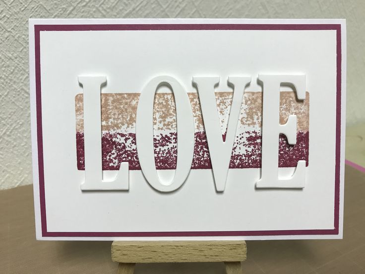 Stampin Up Large Letter framelit dies