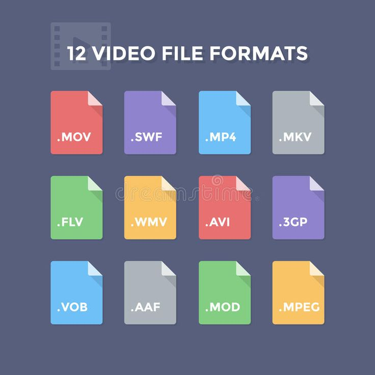 12 formatos de archivo de video