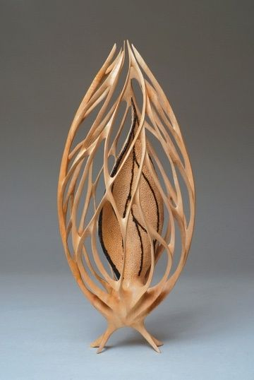 "*Wood Sculpture - ""Seed Spirit"" by Neil Turner"