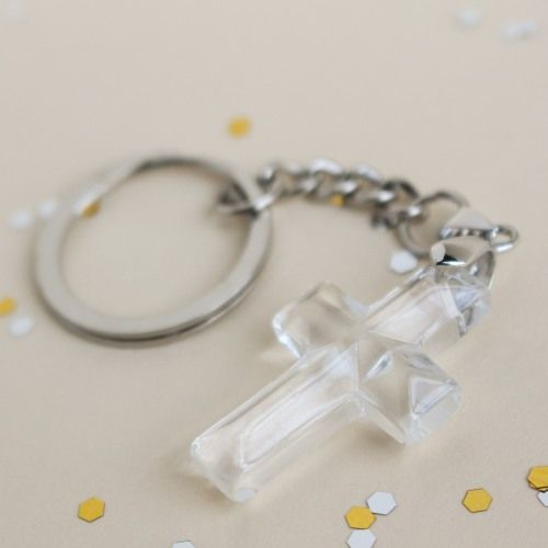 Crystal Cross Key Chain Favor
