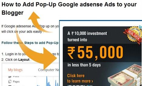 How to Create Google adsense Pop-Up Ads on your Blogger
