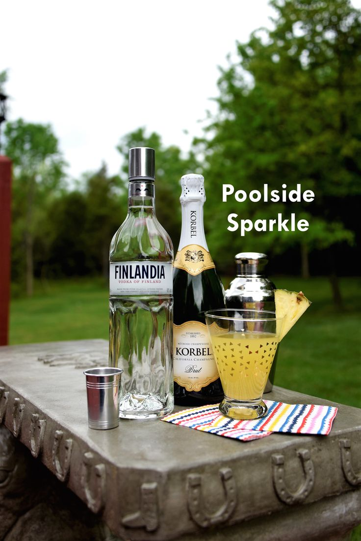 Lounge around the pool this holiday weekend with our Poolside Sparkle. This delightful cocktail is best enjoyed with KORBEL champagne, a splash of Finlandia vodka and some tangy pineapple juice.  Recipe: www.korbel.com