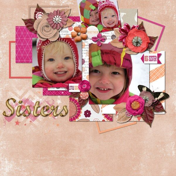 Layout by CTM Lynn using {Heart My Sister} Digital Scrapbook Collection by Pixelily Designs available at Gingerscraps http://store.gingerscraps.net/Pixelily-Designs/ #digiscrap #digitalscrapbooking #pixelilydesigns #heartmysister