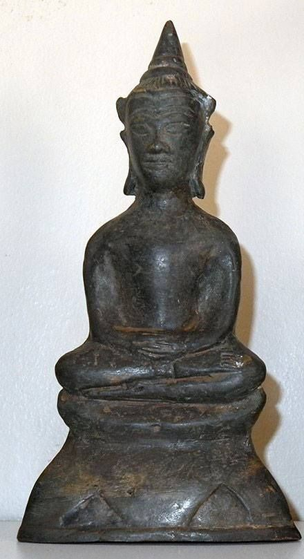 "nice Phra Ngang Bucha (statue) by Ajarn Poon - A spectacular bronze Phra Ngang bucha from Ajarn Poon in Issan province, near the Cambodian border.  7"" tall with a gem, coffin nail & sacred ... #amulets #occult #Thailand Check more at https://www.buddhistmagic.com/product/phra-ngang-bucha-statue-by-ajarn-poon/"
