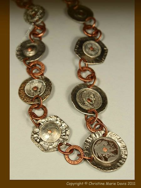 smashed button jewelry, love it !!!