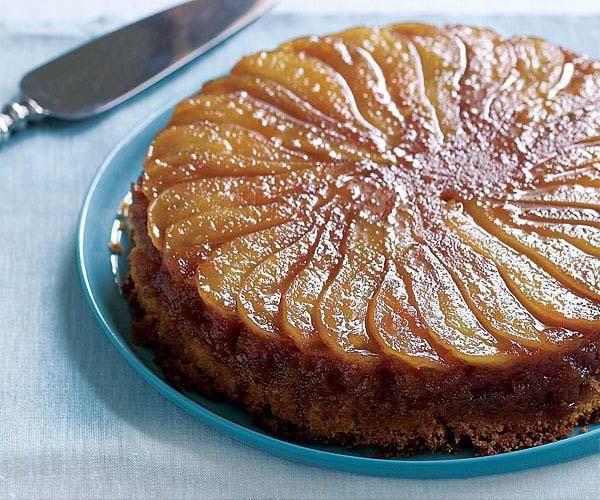 Пирог с карамелизированной грушей: рецепт с фото