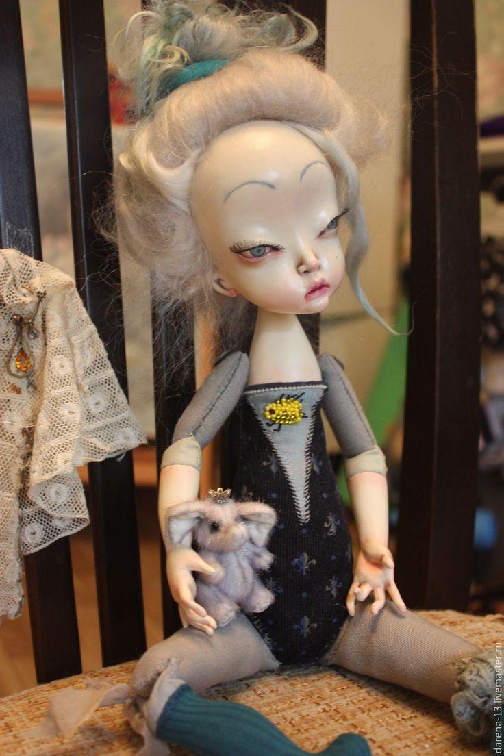 Купить Моя маленькая Принцесса - голубой, шарнирная кукла, Будуарная кукла, старинная кукла