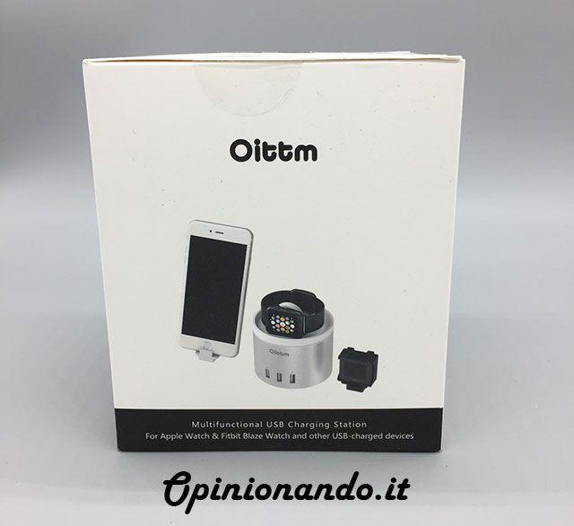 Oittm Multifunctional USB Charging Station Scatola-Orologio #recensione #Opinionando