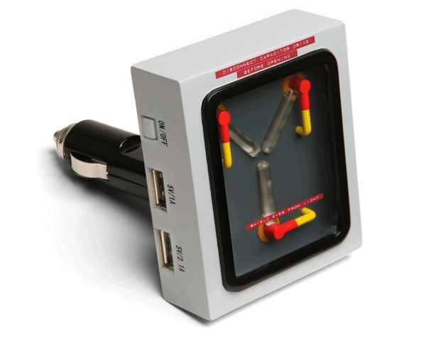 Flux Capacitor USB Car Charger | 10 geeky gifts for the nerd in your life