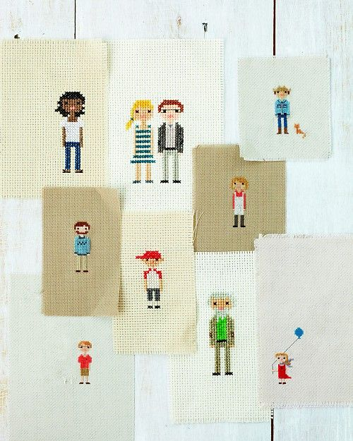 Cross-Stitch Portraits: I made 3 of these for Christmas gifts this year. They turned out really cute and look remarkably like the recipients.