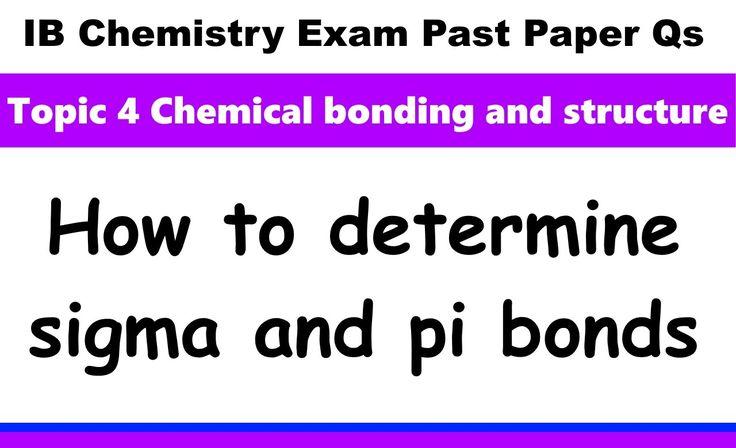 IB Chemistry Past Paper Exam Qs 2016 Specimen P1 HL Q14 Sigma and Pi bonds