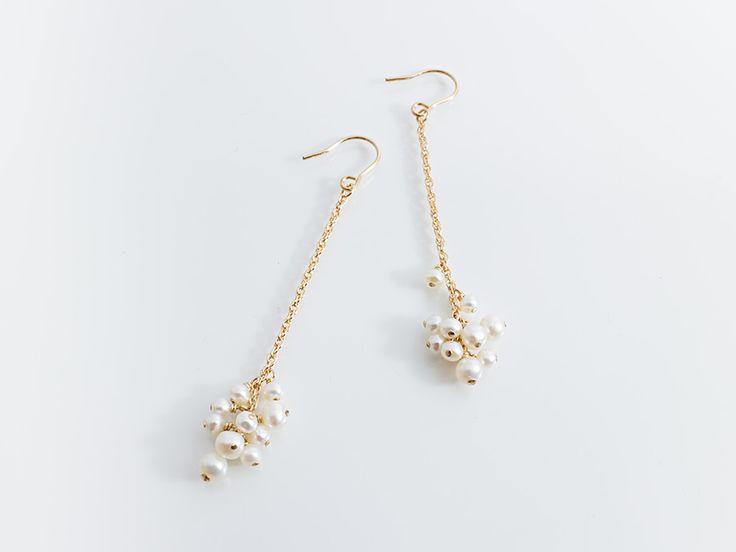 handmade jewelry | earrings | pearl | 淡水パールピアス
