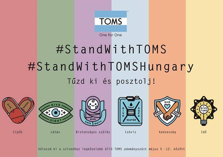 Csatlakozzatok ti is a TOMS idei adományozó kampányához, és nyerjetek bérletet a Bánkitó Fesztiválra! Ehhez nincs más dolgotok, mint május 5-12. között ellátogatni Hercegprímás utcai üzletünkbe és választani egyet a TOMS adományozó kampányait megtestesítő kitűzők közül a PIG SHOES Hercegprímásban, készíteni egy képet a kitűzőről és #standwithtoms és #standwithTOMSHungary hashtagekkel posztolni Instagramon! :)   A 6 különböző kitűzővel a következő célokat támogathatjátok:  Cipő: minden…