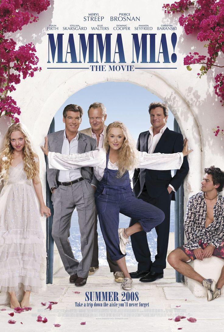 Mamma Mia! Un musical super divertido y romántico, con las situaciones más inesperadas y locas!  Director: Phyllida Lloyd Actores: Meryl Streep,  Amanda Seyfried, Stellan Skarsgård, Pierce Brosnan, Nancy Baldwin, Colin Firth.