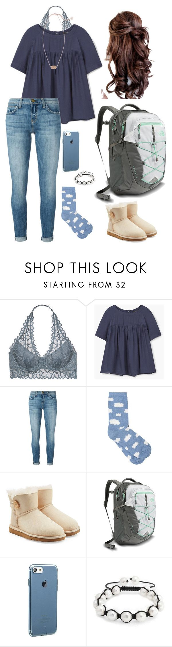 """""""Flinter"""" by mirandamf on Polyvore featuring Victoria's Secret, MANGO, Current/Elliott, M&Co, UGG Australia, The North Face, Bling Jewelry and Kendra Scott"""