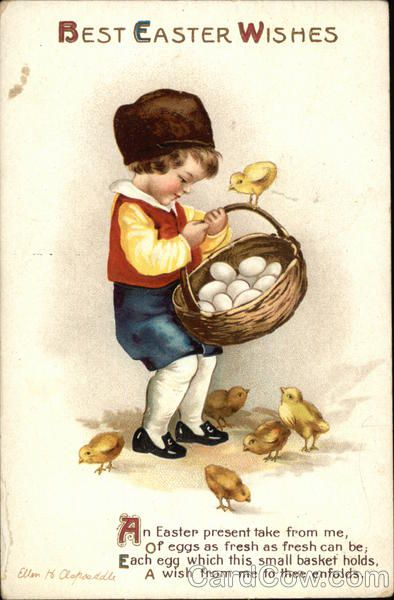 Best Easter Wishes Ellen Clapsaddle Eggs