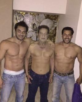 Salman Khan Shares Shirtless Picture Of Salim Khan On Father's Day