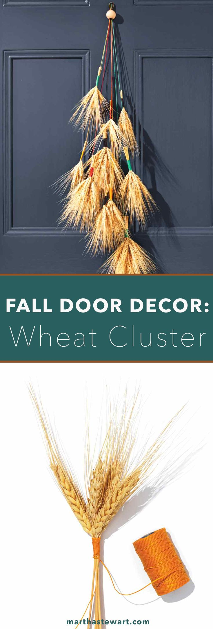 Fall Door Decor: Wheat Cluster
