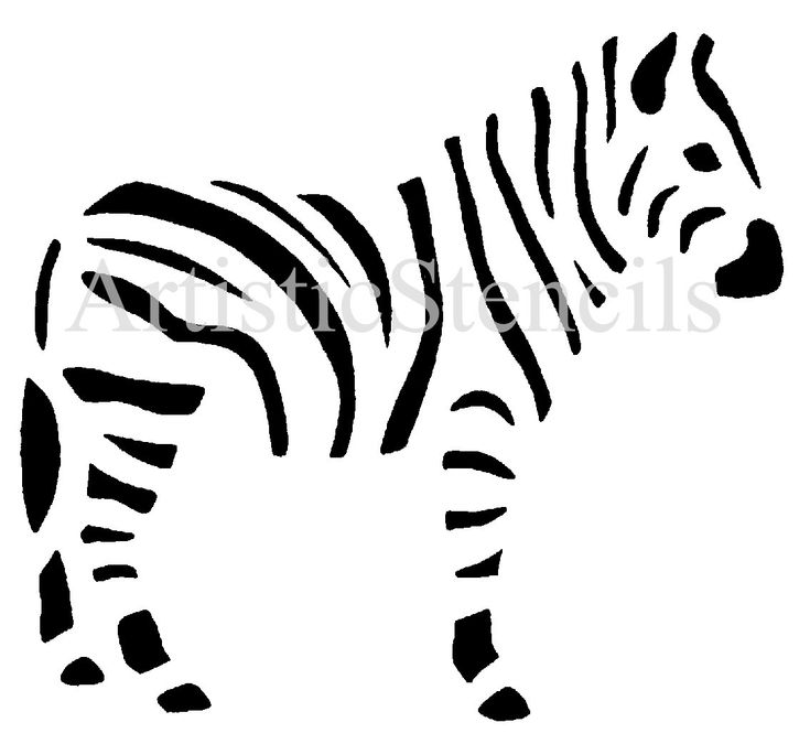 zebra stencil #silhouette #template #animal