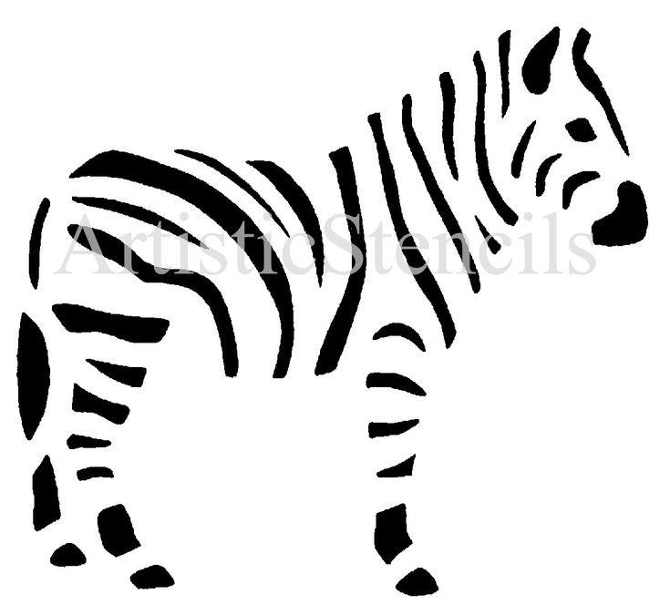Zebra-Schablone von ArtisticStencils auf Etsy