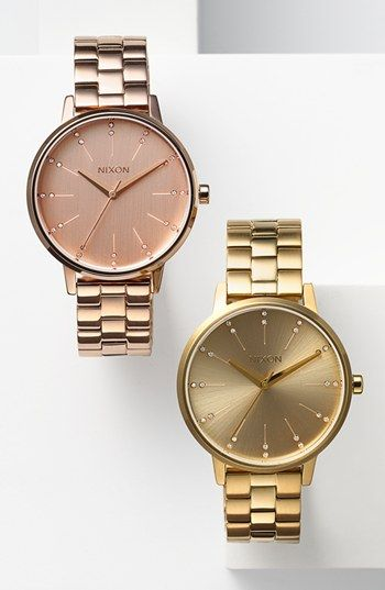 #Nixon: The Kensington. ... I CAN'T wear anything with NIXON on it! but rose watch is beautiful