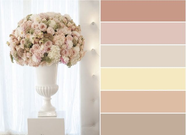 Palheta de cores, casamento Nude! | blush and nude wedding colour palette | www.endorajewellery.etsy.com Mais Mais