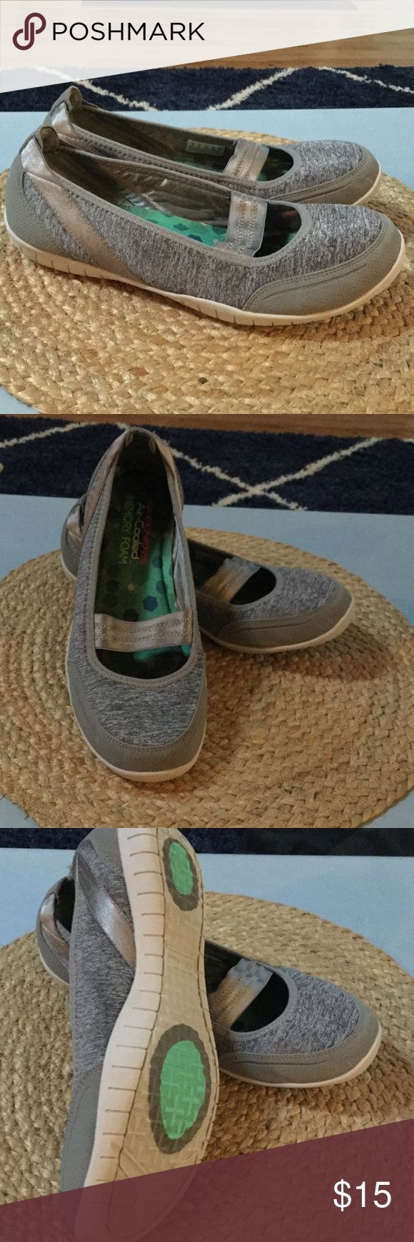 """Gently used sketchers walking shoes Gently used """" go walk"""" slip on shoes.  Memory foam inside.  Very comfortable sketchers Shoes Athletic Shoes"""