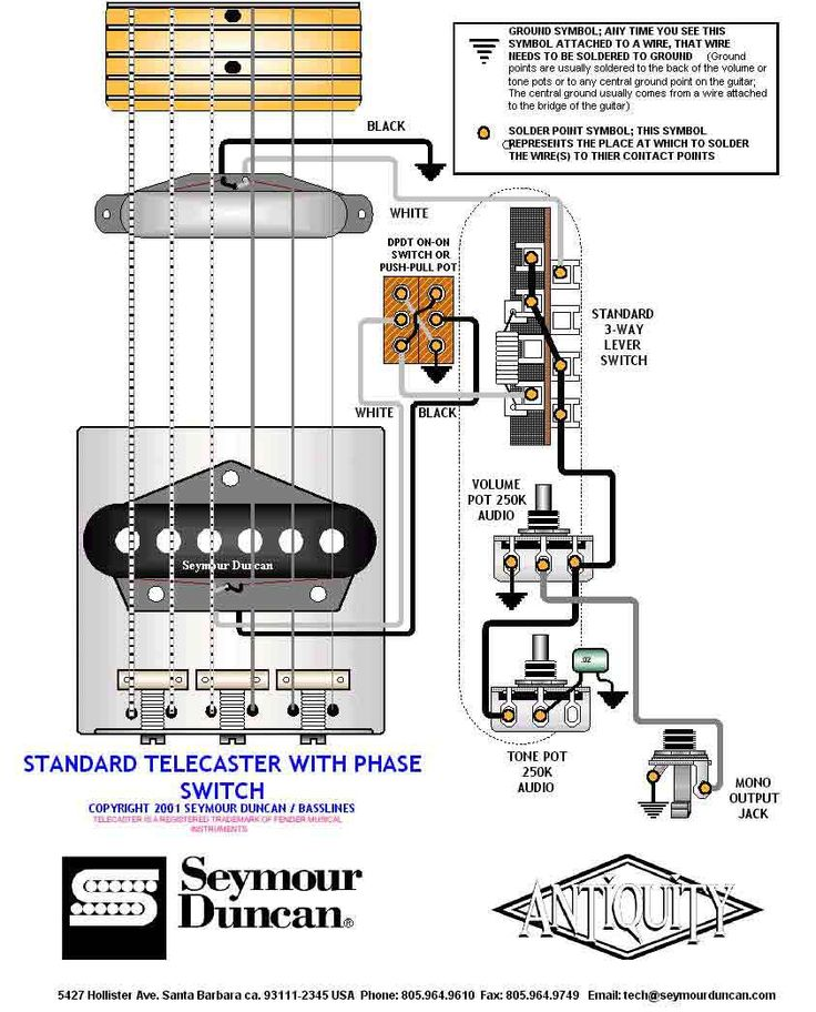 tele wiring diagram with phase switch guitar electronics pinter