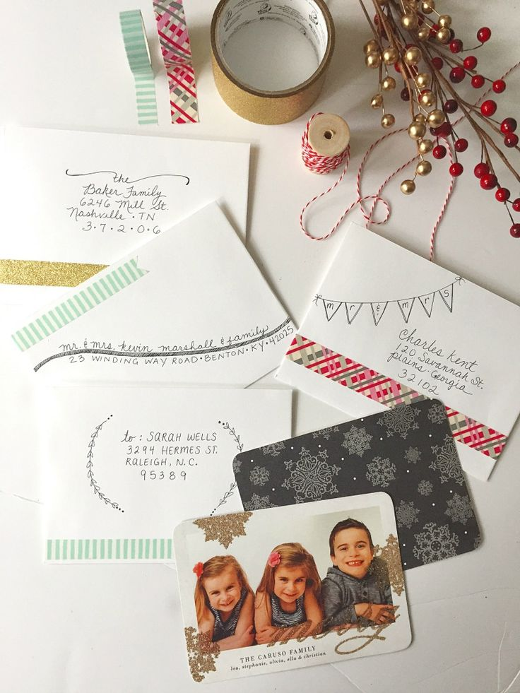 5 Unique Ways to Address an Envelope | holiday cards from #TinyPrints #CLVR @tiny_prints #sponsored