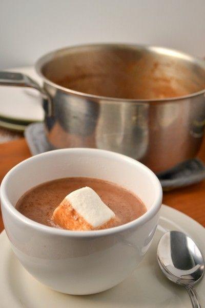 Pumpkin Hot Chocolate (almond milk, pumpkin puree, pie spice, cocoa, maple syrup, salt, vanilla)