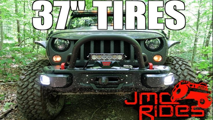 """What Gas Mileage Does A LIFTED Wrangler Rubicon Get On 37"""" Tires? Road N..."""