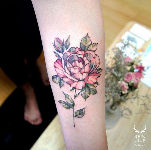 tatuagem botánica blackwork zihwa tattooer reindeer ink                                                                                                                                                                                 Mais
