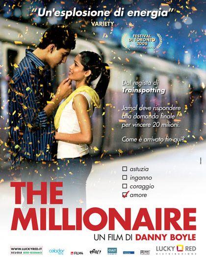 Scalata al milione di un ragazzo innamorato nel melodramma bollywoodiano di Danny Boyle http://www.mymovies.it/film/2008/themillionaire/