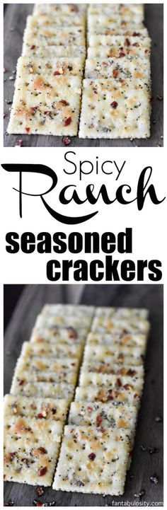 Spicy Ranch Seasoned Crackers Recipe: Party Crackers