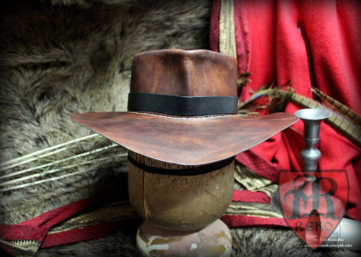 Handmade leather panama / cowboy hat www.facebook.com/pkk.reko