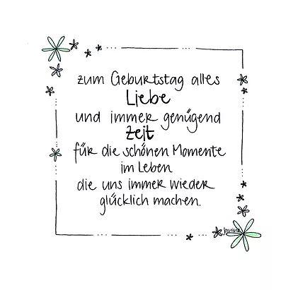 handgemachte Geburtstagskarte mit Blumenrand und Glitzer – zum Geburtstag alles … – Susanne Birkenstock