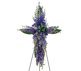 34 best sympathy flowers images on pinterest sympathy flowers order lovingly lavender cross from sunset florist greenhouse your local spokane florist for fresh and fast flower delivery throughout spokane wa area mightylinksfo