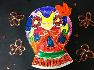 184 best images about paper plates on pinterest paper for Day of the dead arts and crafts
