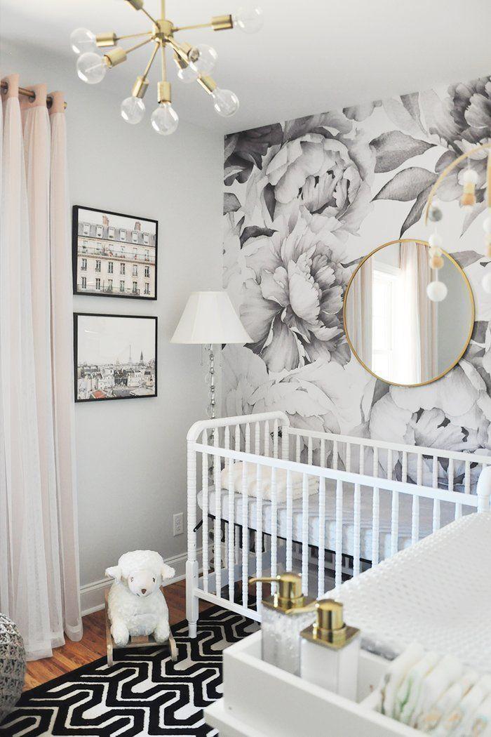Tia Peel And Stick Wallpaper Tile Baby Nursery Wallpaper Kid Beds Baby Girl Room